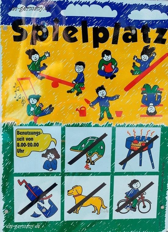правила на детской площадке в Германии