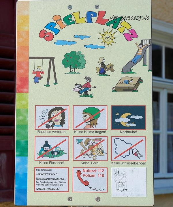 правила на детской площадке