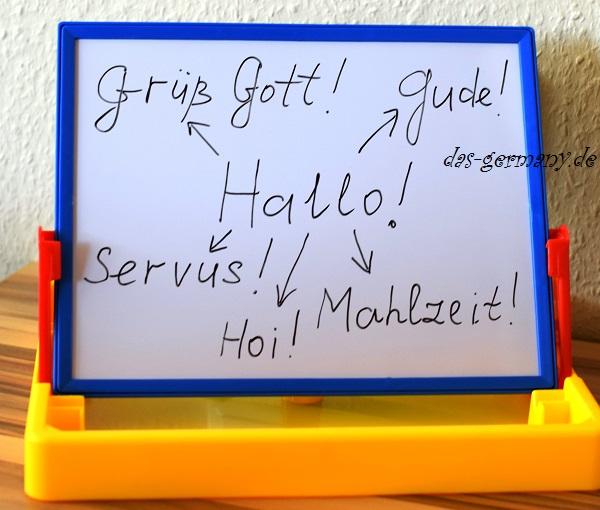 приветствие в немецком языке