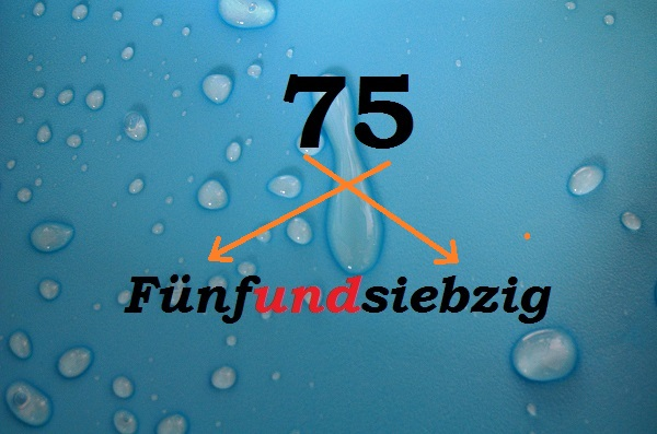 числа на немецком