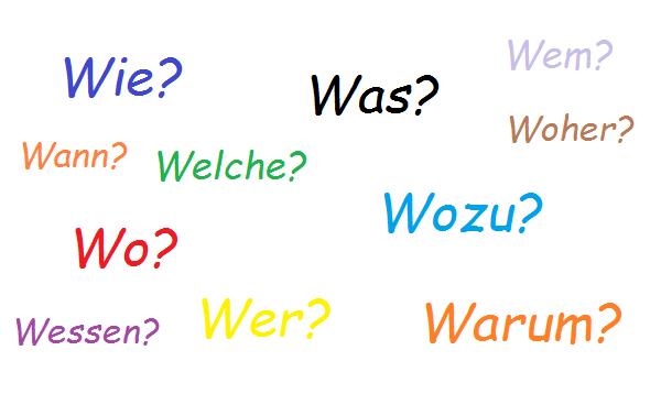 Вопросительные слова в немецком языке