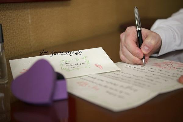 письмо другу на немецком языке