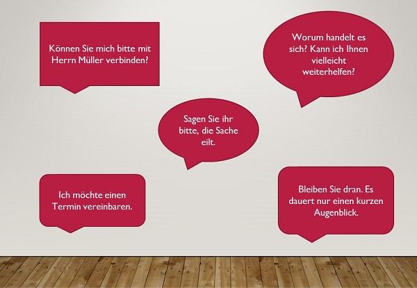 Телефонный разговор на немецком языке