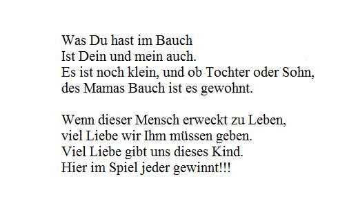 стишок на немецком языке