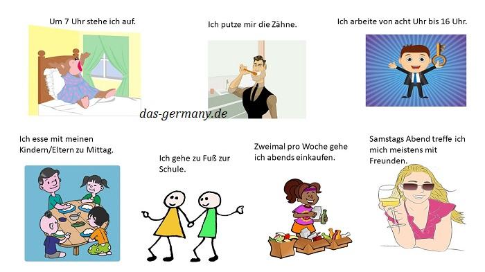 mein wochenende топик по немецкому
